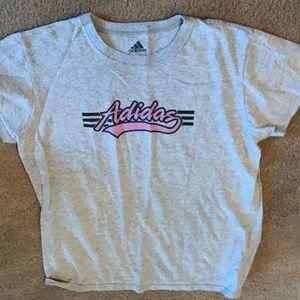adidas Short Sleeve Large Logo Shirt Sz Large
